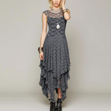 Asymmetrical Boho Sheer lace dress