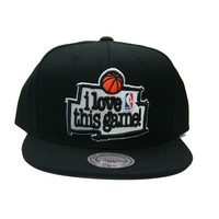 NBA I Love This Game Snapback Hat in Black
