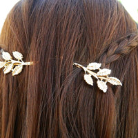 Fashion simple leaves flower hairpin hair hoop decorations