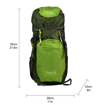 35L Waterproof Ultra Lightweight Packable Travel Hiking Climbing Backpack Daypack with Survival Whistle, Small Handy Foldable Camping Outdoor Backpack Little Bag ( Green )