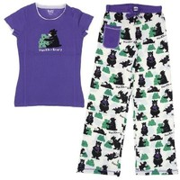 Lazy One Huckle-Berry Cotton Pajamas for Juniors M