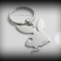 Fathers Day Gift - Hand Stamped Key Chain Personalized for Him Keyring - Key Chain - Hand Stamped Stainless Steel
