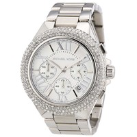 Michael Kors MK5634 Women's Sport Camille Chronograph Silver Dial Stainless Steel Watch