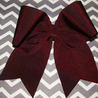 Shimmery Maroon Sequin Cheer Bow. by isparklethat on Etsy