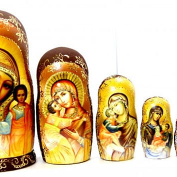 Russian Matrioshka Religion kod277