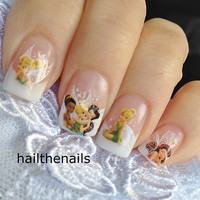 Nail WRAPS Nail Art Water Transfers Decals -  Fairy Princess Tinkerbell YD161
