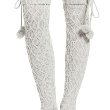 UGG® Sparkle Cable Knit Over the Knee Socks | Nordstrom