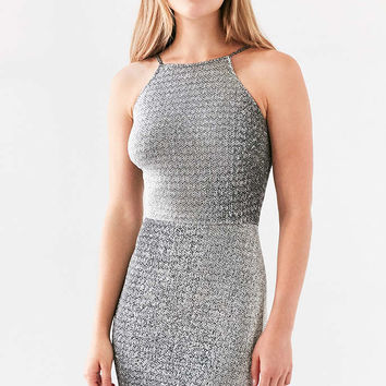 Oh My Love Alanis Metallic Bodycon Mini Dress - Urban Outfitters