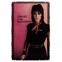 JOAN JETT/CRIMSON AND CLOVER-WOVEN THROW-WHITE-48x80