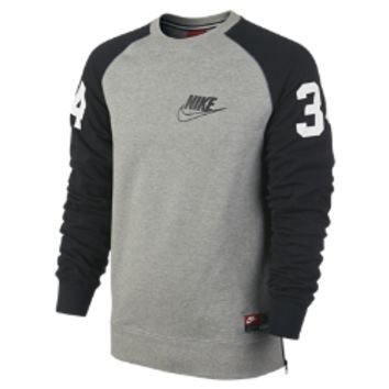 Nike Bo Crew Mesh Men's Sweatshirt Size Medium (Grey)