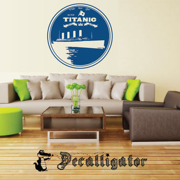 Wall Decal - Vintage Titanic Ad - Retro Vinyl Wall Art - Looks Great with Modern Decor [014]