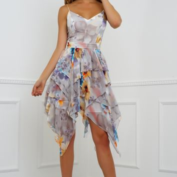 Nari Dress - Grey Floral