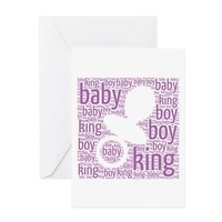 NEW BABY KING OF HOUSE GREETING CARDS