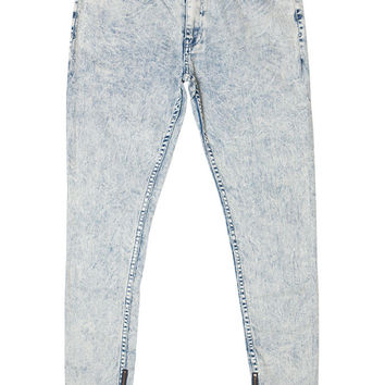 Blue Acid Tapered Zip Pant