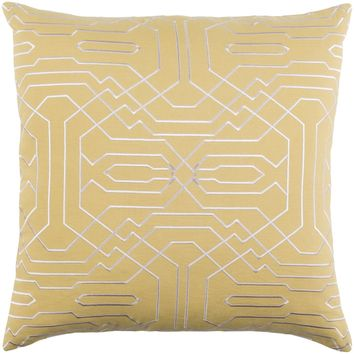 Ridgewood Throw Pillow Yellow, Neutral
