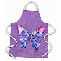 Butterfly on Purple Apron