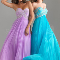 Beautiful A-line Sweetheart Neckline Beadings Floor Length Chiffon Graduation Dress  from SinoSpecial