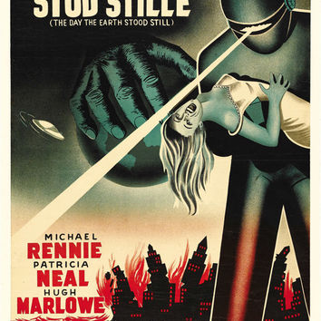 The Day The Earth Stood Still (Danish) 27x40 Movie Poster (1951)