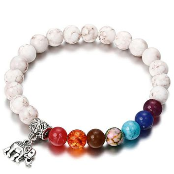 NS19 New 7 Chakra Bracelet Men Black Lava Healing Balance Beads Reiki Buddha Prayer Natural Stone Yoga Bracelet For Women