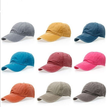 Fashion Unisex Solid Color Pure Cotton Hip Hop Baseball Caps Travel Hats Casual  Caps = 1917035716