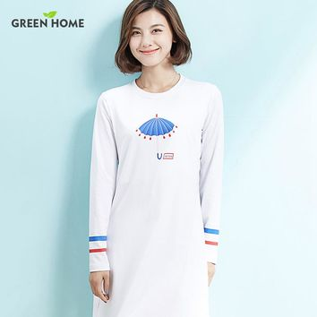 New Casual Maternity Dress Long Sleeve nursing Brief White Printing Dress for Pregnancy Clothes Winter Breast Feeding Dress