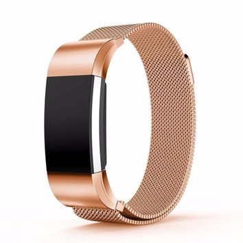Milanese Loop Wrist strap & Link Bracelet Stainless Steel Band for Fitbit