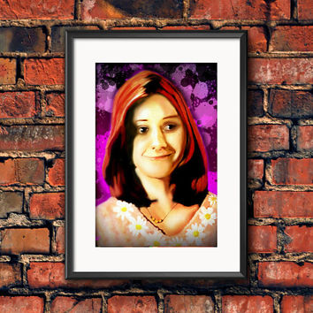Willow Alyson Hannigan Buffy the Vampire Slayer Horror Television Art Work Print