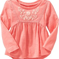 Old Navy Floral Yoke Tops For Baby