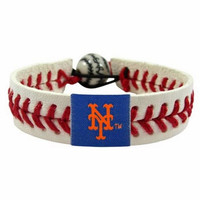 Gamewear MLB Leather Wrist Band - Mets Classic Band