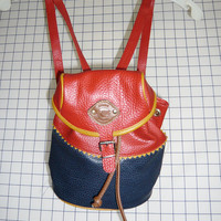 Vtg. Early 90s Faux Leather Mini Backpack