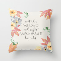 Fall Throw Pillow by sylviacookphotography