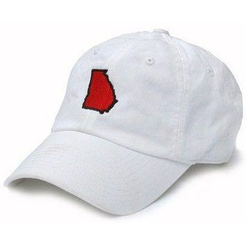 GA Athens Gameday Hat in White by State Traditions