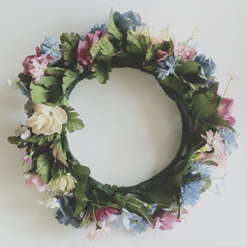 Large Flower Wreath Crown | Photoshoot Photography Shoot Art Handmade Support Local Artists