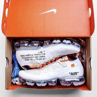 OFF-WHITE x Nike Air Vapor Max Hot Sale Women Men Running Sport Shoes Sneakers White