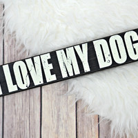 BENTLEY'S CORNER: I Love My Dog Box Sign - Large