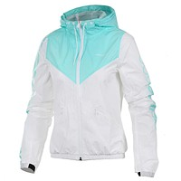 Adidas Women Men Fashion Hooded Cardigan Jacket Coat Sweatshirt Windbreaker