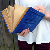 Big River Song's Journal, Tardis Journal, large diary,  big notebook, journal diary,  blank book, old paper, 9x6inch