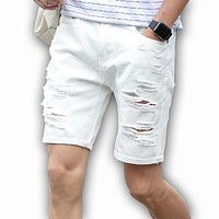 *online exclusive* men's ripped jean shorts