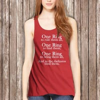 The Lord of the Rings One Ring Women Tanktop - tri1 Tanktop For Women  / Custom - Tanktop / Women Tanktop