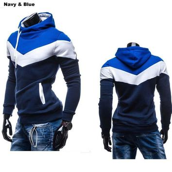 Navy / Cowboy Blue New Men's Hoodie M-XXXL