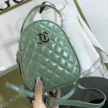 CHANEL Fashion Women Shopping Leather Bag Shoulder Bag Handbag Crossbody Satchel Green I-AGG-CZDL