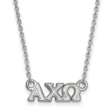 Sterling Silver Alpha Chi Omega XS Necklace