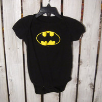Batman Onesuit, Black with Snaps. So cute! A must have for a cool baby!