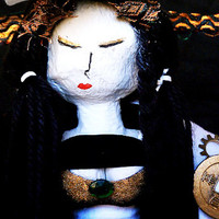 Xī Shī - OOAK Mixed Media Chinese Art Doll Made from Recycled Material