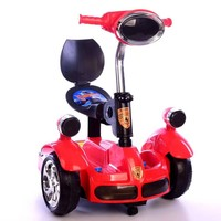 Fashion Children' Remote Control Car Balance Motor Van Ride on Electric Toys Kids RC Ride on Car Five Wheels Bumper Scooter Car
