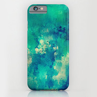 iPhone 6 ihone 6 Plus iPhone 5 iPhone 5s iPhone 5c iPhone 4 iPhone 4s Samsung Galaxy S5 Galaxy S4 Phone Case.Turquoise Paint Phone Case