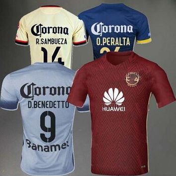 Top thai quality 2016 mexico club america camisas to commemorate 100 years sambueza be