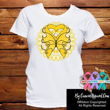 Childhood Cancer Stunning Butterfly Shirts