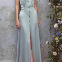 Satin Full Length Dress | Moda Operandi