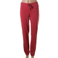 James Perse Womens Cotton Flat Front Sweat Pants